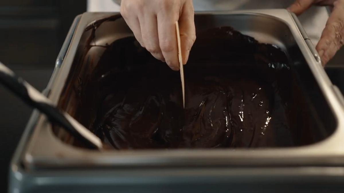 Schokolade temperieren