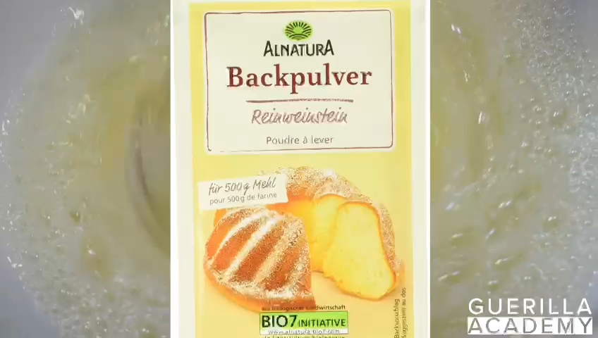 Backpulver Weinstein zu Eischnee