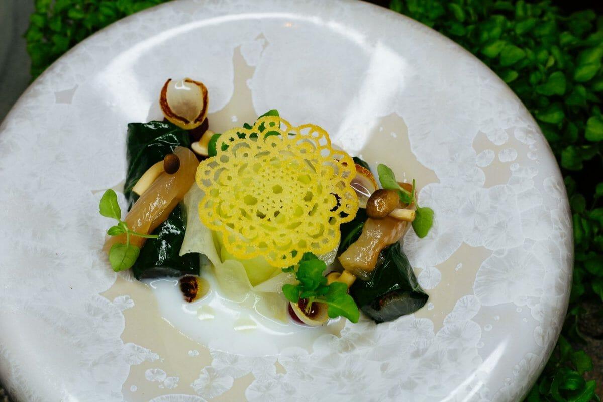 Forellen Sushi mit Kohlrabi und Hippen Rezept